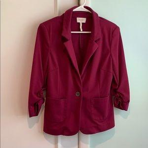 Laundry plum stretchy blazer with 3/4 sleeves
